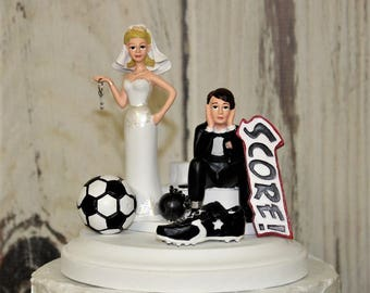 Soccer Cake Topper Wedding Sports Ball Bride And