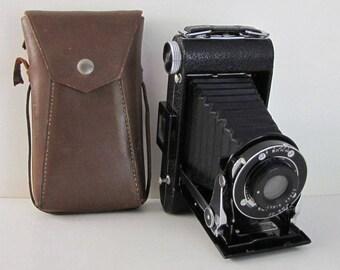 Vintage Kodak Senior Six 20 Camera, Vintage Kodak Camera, Folding Camera, Vintage Photography, Vintage Camera,  Leather Case, Photo Prop