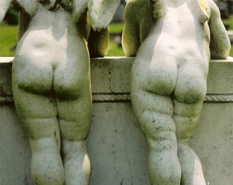 Booty Call - Twin Cherubs - Original Color Film Photograph by Suzanne MacCrone Rogers