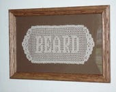 10 LETTERS Hand-crocheted Name Doily