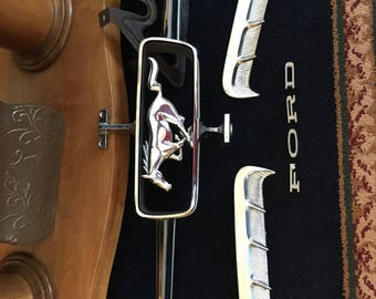 Mustang Grill Pony Emblem & Bars - Mustang Car Parts - 60s Mustang Replacement Parts - Original Ford Parts - Ford Hood Ornament