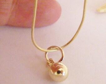 7mm 9ct solid Gold Sphere Pendant - British Handmade 9k ball Jewellery IN STOCK