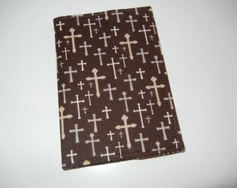 SALE Fabric Passport Cover with Crosses