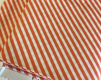 Coral Stripe fabric, Pink Gold Nursery fabric,  Modern Baby Quilt fabric, On Trend Stripe in Pink, Nursery Decor, Choose Your Cut