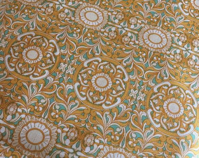 Florabelle by Joel Dewberry, Fabric Shoppe Fabric by the Yard, Mustard Gray Filigree in Tucson, Choose Your Cut