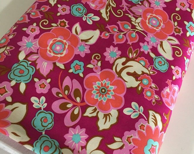 Amy Butler fabric, Soul Mate, Etsy Gift Idea, Gift for Quilter, Baby Quilt, Quilting fabric, Grand Bouquet Plum - Choose the cut