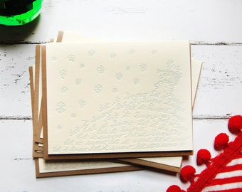 Let it Snow Letterpress Holiday Card Set of 5