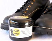 Two (2) - Black Gold - Boot Grease Leathercare. Bootblack