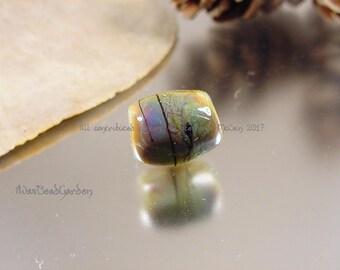 Handmade lampwork glass dreadlock bead, Artisan glass beads, dread beads, glass dreadlock beads, big hole hair bead, glass hair beads, SRA