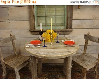 "ON SALE Driftwood Dining Table (35"" Round x 29""H)"
