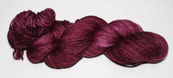 Ready to Ship - Cabernet Hand Dyed Sock Yarn - Superwash Worsted