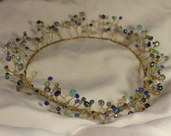 Blue Crystal Fairy Crown