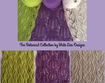 The Botanical Scarf Collection Gift Pack- Cashmere Knitting Kit