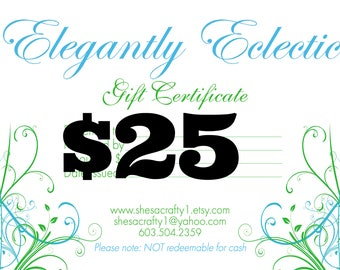 Last Minute Gift - Printable Gift Card - Gift Certificate - Gifts Under 25 - Last Minute Gifts - Procrastinator Gifts