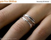 40% Off Twisty Twig Ring Set | Stacking Rings | Nature Inspired Rings