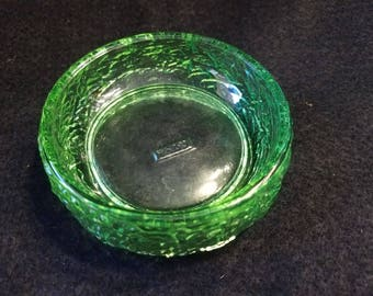 Avon/Trinket Dish/1970s/Green/Glass