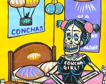 Concha Girl 8x10 print