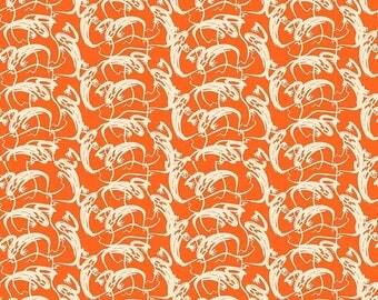 ON SALE Penny Rose Fabrics Trick or Treat Stripe Ghosts Orange