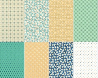 20EXTRA 30% OFF Calico Days Fat Eighth Panel Mint