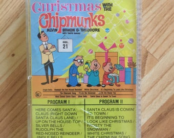 Christmas with the Chipmunks Alvin Simon and Theodore Cassette Tape Music