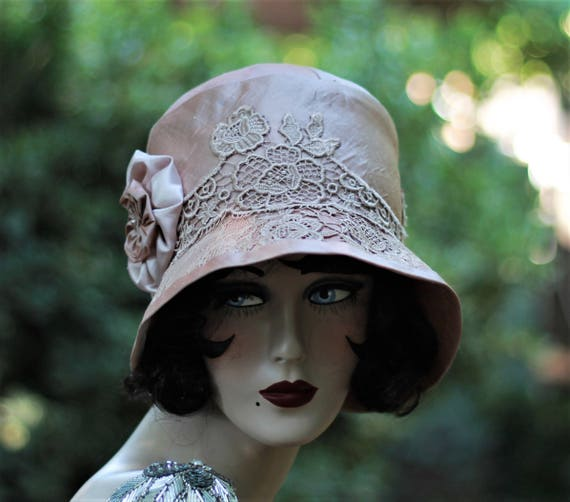 20s Hat, Elegant Hat, Vintage Style Hat, Wedding Hat,Bridal Hat, Lace Hat,Special Occasion Hat,Special Event Hat,Formal Hat,Fancy Hat