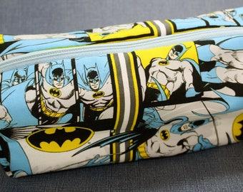 Boxy Makeup Bag - DC Comics Batman Zipper - Pencil Pouch
