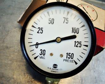 vintage industrial pressure guage ametek dial gauge