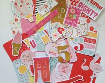 Fine & Dandy, Flamingo - Project Life Mini Kit, Art Journaling, Snail Mail, Cards, Planners