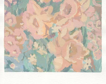 floral painting original, floral watercolor painting, flower wall art by Michelle Farro