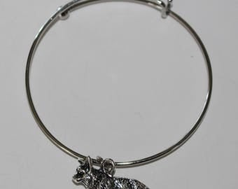 Welsh Pembroke Corgi Bangle Bracelet