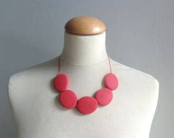 Coral red necklace