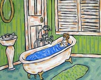 20% off storewide Jack Russell Terrier ,bathroom art, ceramic coaster, bathroom decor, modern dog art, jack russell tile, print on tile,