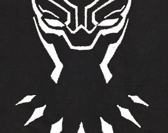Black Panther Outline Applique, Avenger Applique Embroidery Design This is NOT A PATCH!