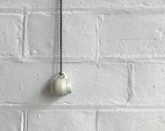 Mug Necklace: Mint Green
