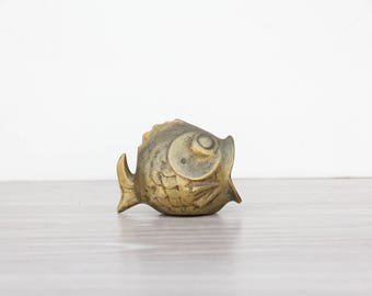 Brass Fish Ashtray / Match Holder