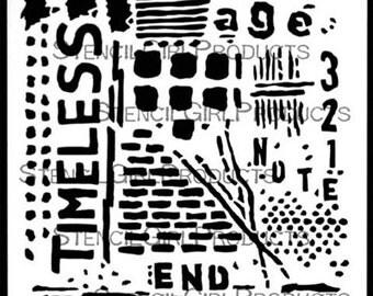 Timeless 6x6 Stencil, Stencil Girl, designed by Seth Apter
