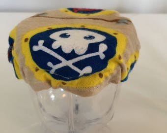 Children Reusable Elastic Drink Cup Glass Cloth Coaster Pirate Cover Fabric