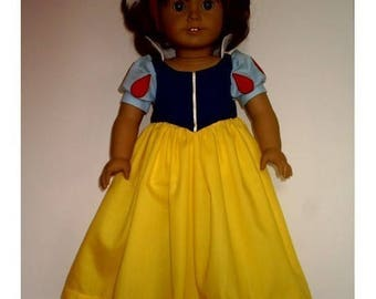 Snow White Costume fits American Girl Doll Clothes