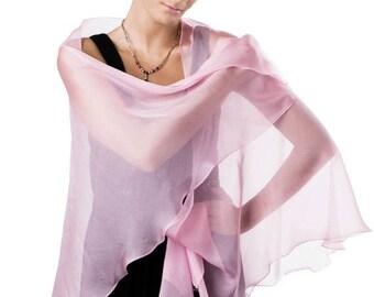 Promo Sale: Light Pink Silk Chiffon Shawl