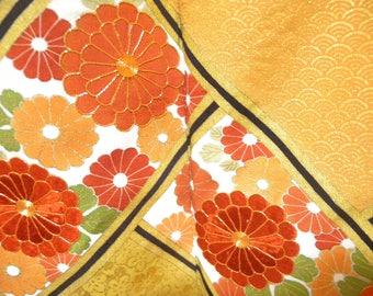 Vintage kimono S748, black, tomesode, embroidery