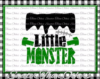 Halloween svg, Little Monster svg, Frankenstein svg Dxf Silhouette Studios Cameo Cricut cut file INSTANT DOWNLOAD Boy Halloween svg Htv Scal