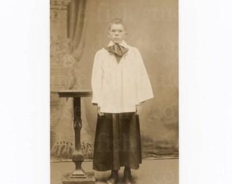Vintage Choir Boy Portrait Postcard