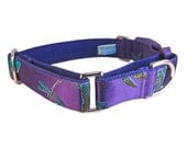 Dragonfly Dog Collar, Martingale Collar, Whippet Collar, Purple Dog Collar, Italian Greyhound Collar, Martingale Dog Collar, Wide Dog Collar