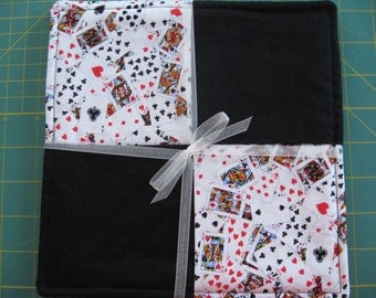 Card Club Pair Pot Holders Hot Pads