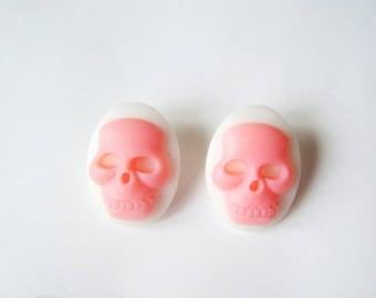 Cameos earrings ♥ skulls roses ♥