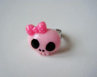 Ring - Skull - pink