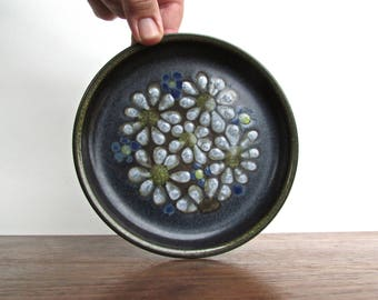 Kismet Blue Denby Langley Stoneware, Made in England, KISMET BLUE, 4 Available Bread & Butter Plates, White Flowers on Blue