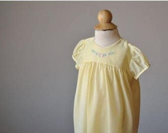ANNIVERSARY SALE 1950s Buttercup Spring Dress~Size 6 Months