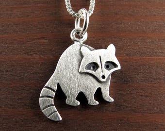 Tiny raccoon necklace / pendant