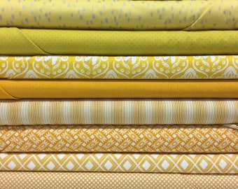 Quilt Sandwich's Color Pack - 10 Fat Quarters - Yellow